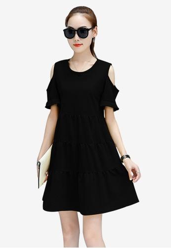 Lara black One piece Dress 954FDAADDEC951GS_1