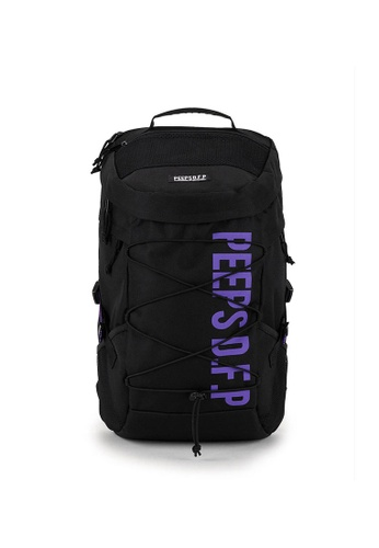 Peeps black and purple Titan Backpack AE066AC46226A3GS_1