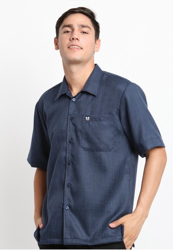 Mellon blue Mellon Navy Droid R Pin Shirt FDC67AA88347B4GS_1
