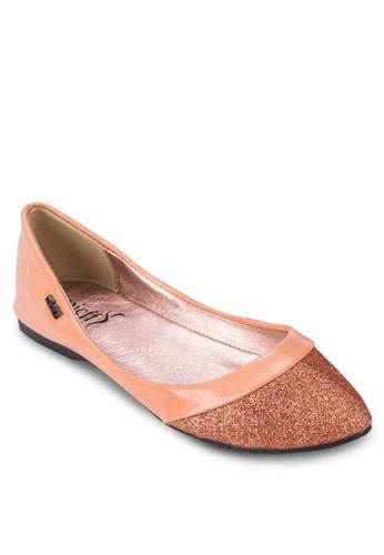 閃esprit女裝飾尖頭平底鞋, 女鞋, 鞋