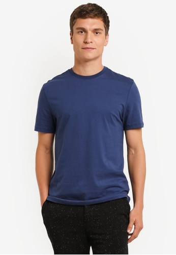 Topman navy Short Sleeve Navy Crew Neck Tee TO413AA0RO9OMY_1