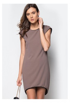 Sara Charcoal Brown Long Back Dress