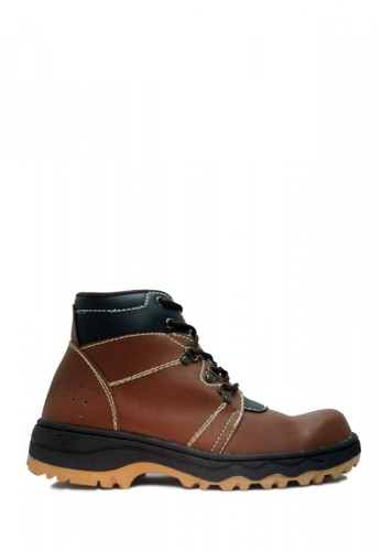 Cut Engineer brown Cut Engineer Safety Boots Jordan Steel Leather Brown D8FDASH88BB546GS_1