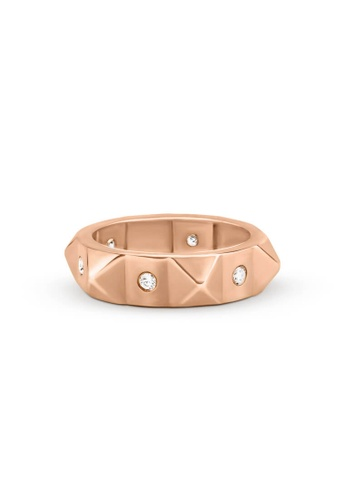 Aquae Jewels pink Ring Rich & Bold Peaks & Diamonds – 18K Gold - Rose Gold 7FECBACE18E14AGS_1