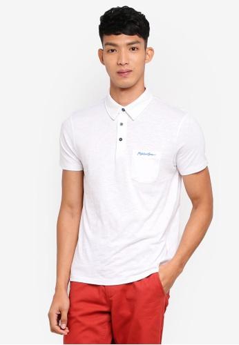 OVS 白色 短袖刺繡POLO衫 168C4AA5608393GS_1