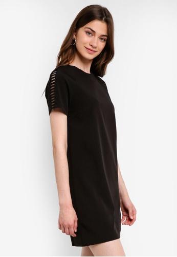 Something Borrowed black Cut Out Detail Shift Dress 63B96AA4EB9CB3GS_1