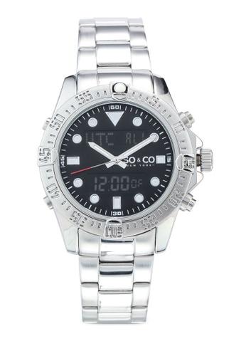SO&CO silver Hudson 5017.1 Watch AE970AC4385F91GS_1