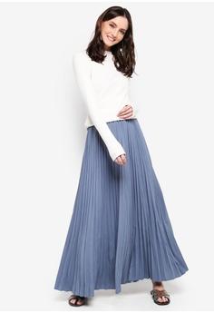 dd8a6ec21c8 BYN Pleated Maxi Skirt RM 79.90. Sizes S M
