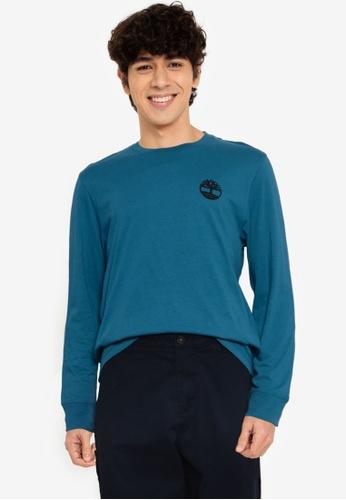 Timberland blue Long Sleeves Graphic Tee 0E7B4AA35F3022GS_1