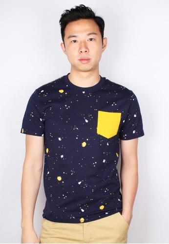 Moley navy Paint Splatter T-Shirt B92E3AA3C19CEEGS_1
