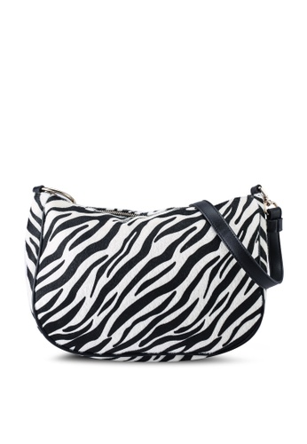Red's Revenge multi Wild Thing Zebra Faux Fur Shoulder Bag 00B02ACE32E9EFGS_1