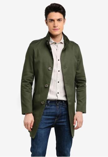 ESPRIT 綠色 Woven Regular Coat DA12AAA771193DGS_1