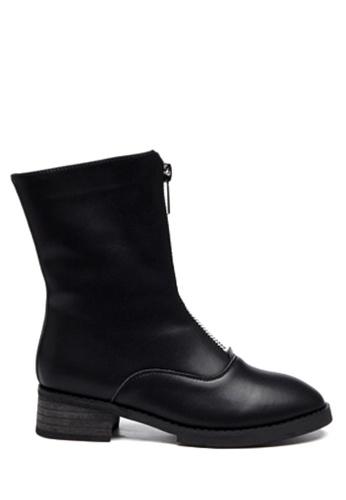 Twenty Eight Shoes black Front Zipper Ankle Boots VBF9 86C6ASHACD2480GS_1