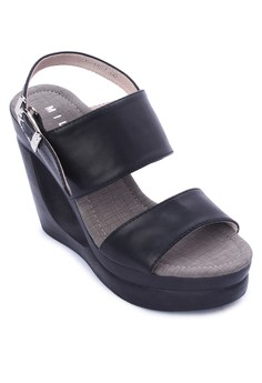 Ave Casual Two Strap with Ankle Strap Wedge Sandal