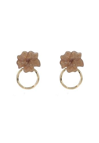 GLOBAL WORK beige Flower Ring Earrings 694F7AC1298A8BGS_1
