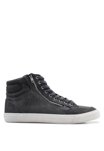 Topman 灰色 高筒動物紋運動鞋 4AAD0SHD45FAC6GS_1