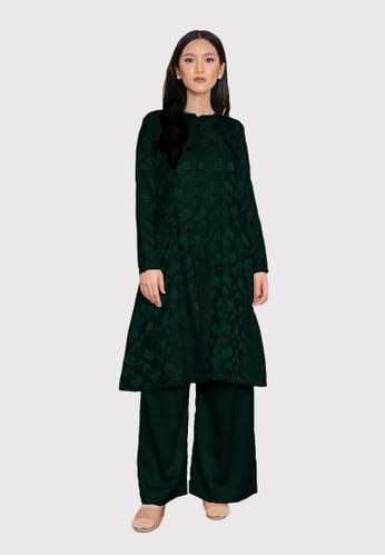 LosraVelda green Naina Top and Pants AC955AABA28740GS_1