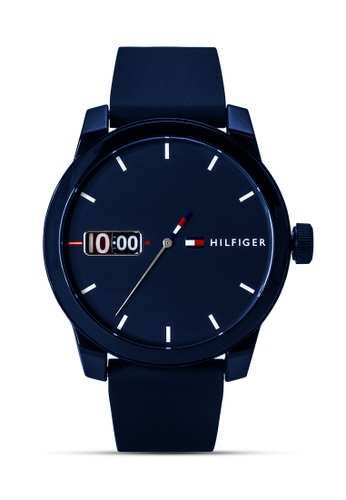Tommy Hilfiger Watches white and red and blue and silver Men's Silicon Strap Watch TO959AC0JJRZPH_1