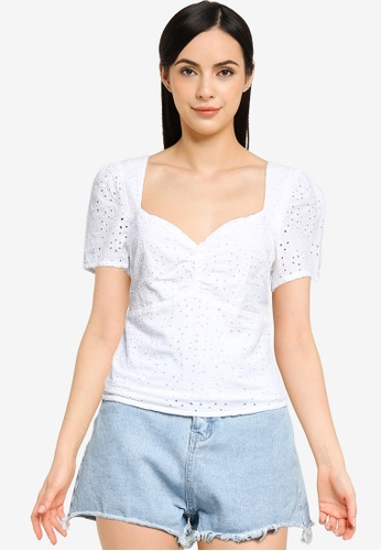 ABERCROMBIE & FITCH white Omfg Blouse 85ACEAAF5B30CDGS_1