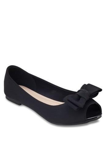 露趾esprit taiwan蝴蝶結平底鞋, 女鞋, 鞋