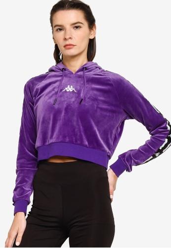 Kappa purple Kappa L.A. Banda Fleece Hoodie 51360AAAD69EFFGS_1