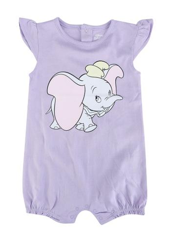 FOX Kids & Baby purple Cap Sleeve Short Romper A6911KAB1FF6D4GS_1