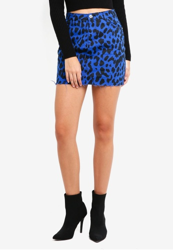 Buy Missguided Leopard Print Denim Mini Skirt Online Zalora Malaysia