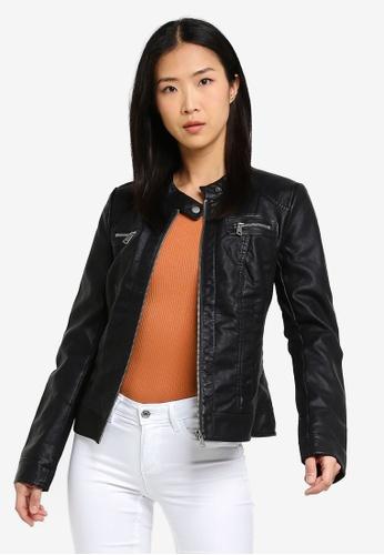 6ba491e2a3d Buy ONLY Bandit Faux Leather Biker Jacket Online on ZALORA Singapore