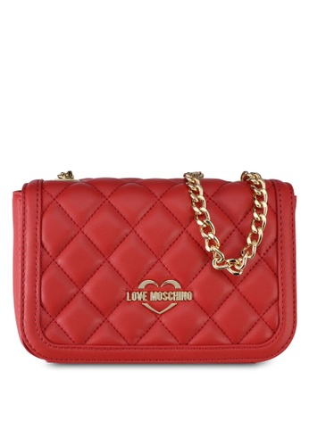 Love Moschino red LOVE MOSCHINO Borsa Quilted Sling Bag LO478AC0SXW0MY_1
