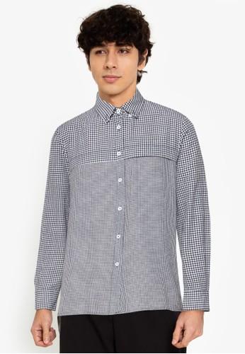 ZALORA BASICS multi Layered Check Shirt A8A2CAAE7E79BBGS_1