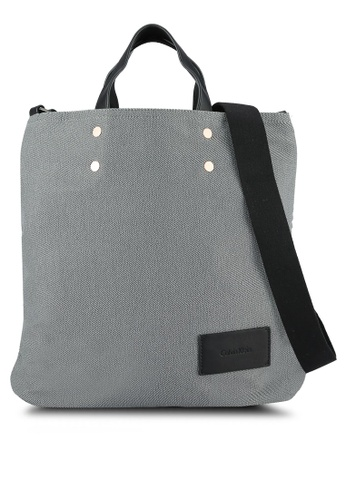 Calvin Klein grey Two Way Flat Tote - Calvin Klein Accessories CA221AC0RWSVMY_1