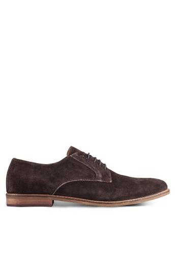 KG Kurt Geiger brown Donald Suede Lace-Up Shoes KG303SH0RIATMY_1