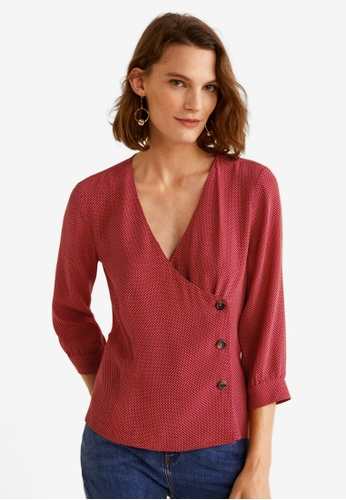 Mango red Buttons Details Shirt FC7EEAAAED73F8GS_1