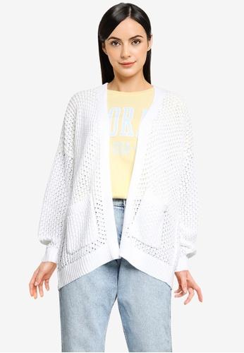 Hollister white Slouchy Long Length Cardigan 5369BAA86C54EEGS_1