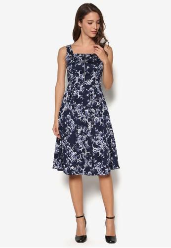 Collection Zip Detai京站 espritl Fit & Flare Dress, 服飾, 洋裝