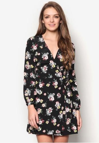 Miss Selfridge multi Floral Wrap Belt Dress MI665AA69ILUMY_1