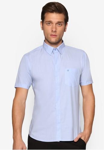 基esprit旗艦店本款短袖襯衫, 服飾, 素色襯衫