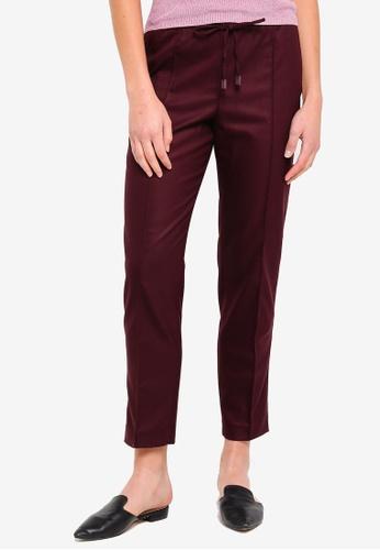 Mango red Adjustable Waist Trousers A73CBAA926E97EGS_1