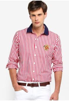 d5504c26e Polo Ralph Lauren red and multi Long Sleeve Poplin Sport Shirt  70508AA7495136GS 1