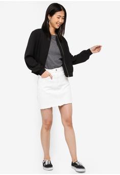 ed0d942d16a6 ZALORA BASICS Basic Classic Denim Mini Skirt RM 65.00. Sizes L XL