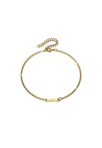 Bullion Gold gold BULLION GOLD Bold Alphabet Letter Initial Charm Bracelet in Gold Tone - I 59C01AC58DB490GS_1