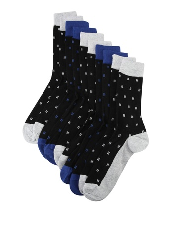 Burton Menswear London black 5 Pack Assorted Fine Stripe Socks ED6C2AA6B4FF05GS_1