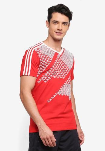 adidas red adidas russia ci tee AD372AA0SUHWMY_1