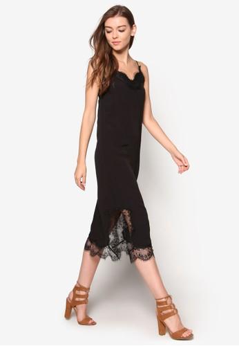 Karlie 細esprit outlet肩帶蕾絲連身裙, 韓系時尚, 梳妝