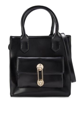 金飾仿皮方形手提包, 包, esprit香港門市手提包
