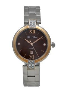 Bonia Jam Tangan Wanita - Silver Gold Brown - Stainless Steel - BNB10274-2343 F8E96AC50574A2GS_1