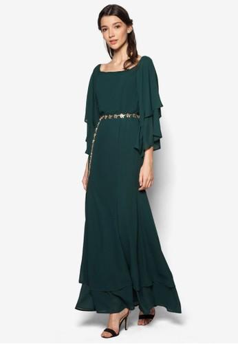 層疊esprit hk分店七分袖長洋裝, 服飾, 長洋裝