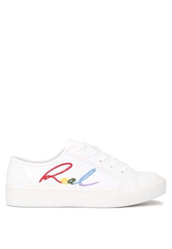 London Rag white REAL Lace-up Sneakers SH1665 2A2F4SHDDFA7E5GS_1