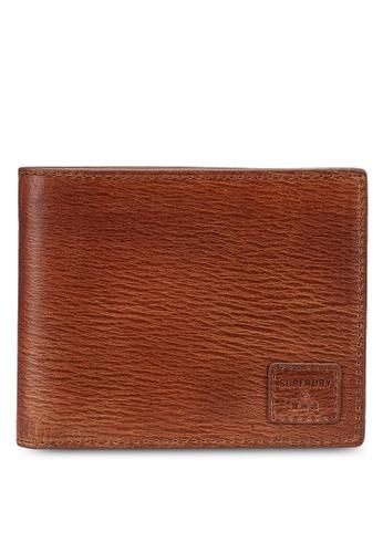SUPERDRY brown Benson Boxed Bi Fold Wallet - Original & Vintage 4C080AC3C460EFGS_1