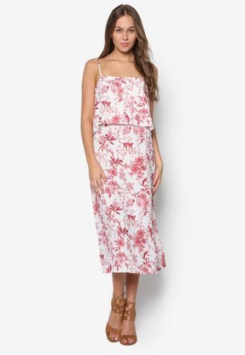 Toesprit門市ile De Joie 細肩帶層次連身裙, 服飾, 洋裝